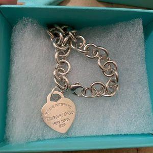 "Return to Tiffany Heart Bracelet 925 7"""